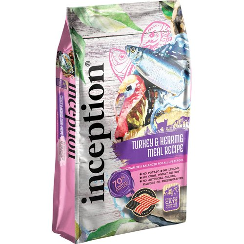 Inception Legume Free Cat Food Turkey with Herring Recipe 4lb