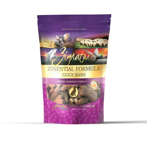 Zignature Ziggy Bars Zssential Formula Biscuit Treats for Dogs 12oz